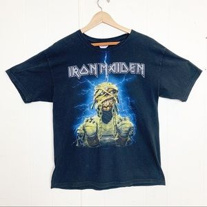 Iron Maiden Eddie in chains classic black band tee